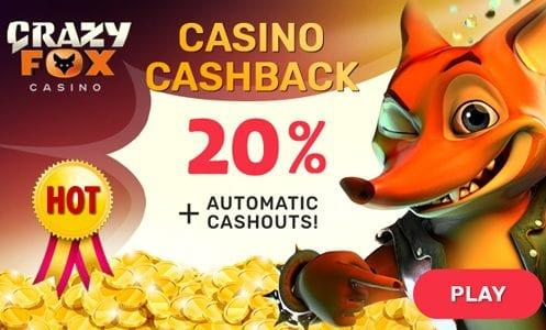 Crazy Fox Casino Cashback