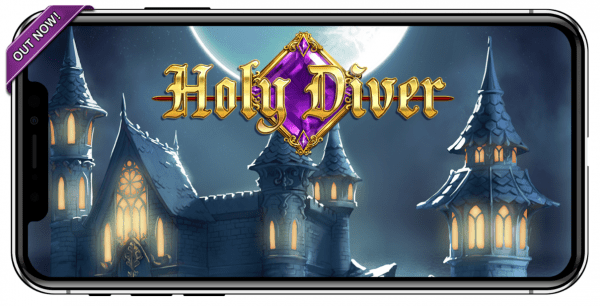 Holy Diver is a perfect example of a slot game optimized for mobile access