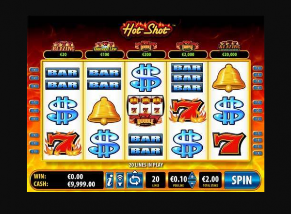 Hot Shot Inferno slot is developed by Bally Technologies