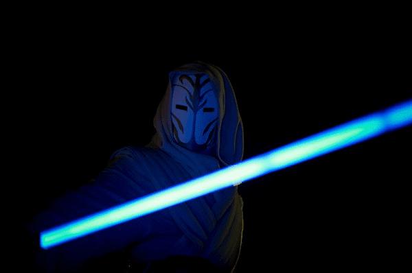 Jedi Knight with a blue lightsaber