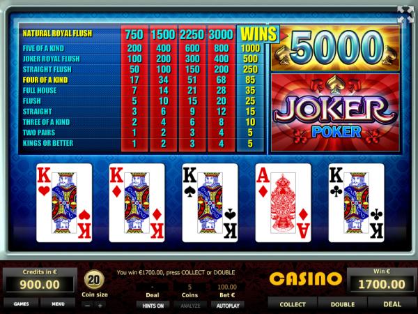 Joker Poker is a very lucrative video poker game - enjoy it in our Tom Horn Casinos!