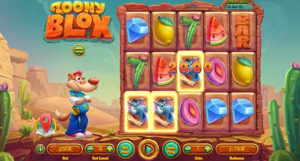 Habanero casinos host the very interactive Loony Blox slot