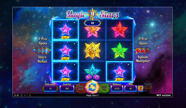 No Wazdan Casino is complete without the Magic Stars 9 slot
