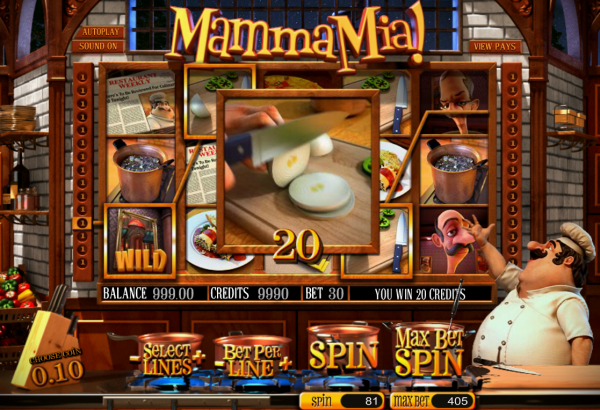Mamma Mia slot developed by Betsoft