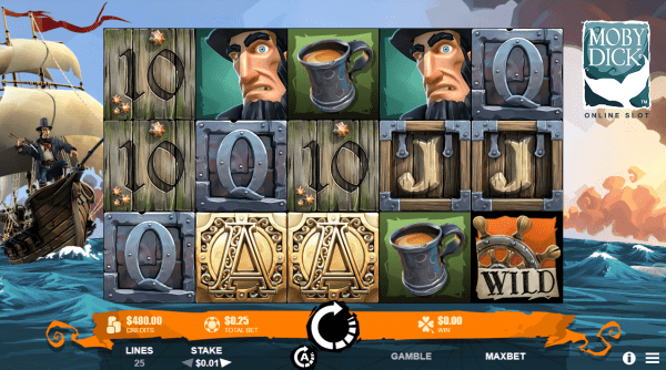 Moby Dick slot developed by Rabcat