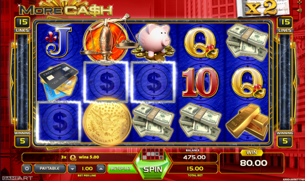 More Cash slot by GameArt hides plenty of features