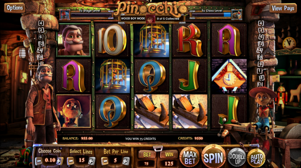 Join hands with Gepeto and Pinocchio at every Betsoft Casino