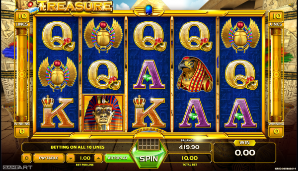 GameArt casinos proudly present the Ramses Treasure slot