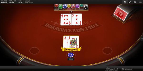 Enjoy the immersive blackjack variants by Red Tiger