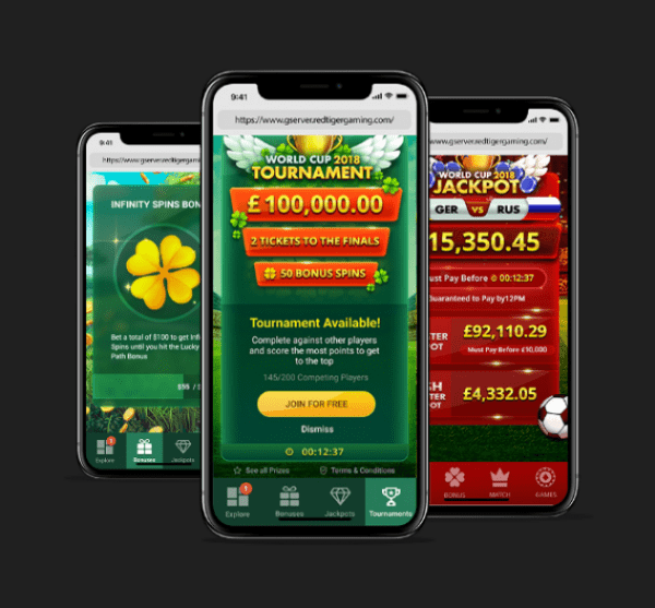Red Tiger casinos are fully compatible with any mobile devices