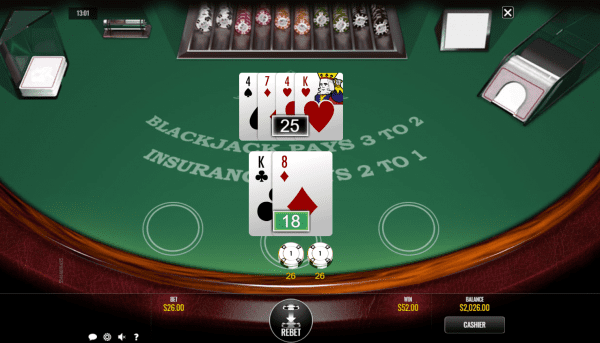 Check out this clasic blackjack variant by Rival