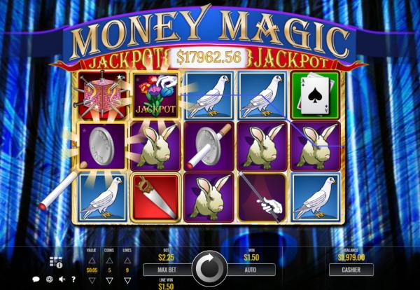 Money Magic is a Rival progressive jackpot