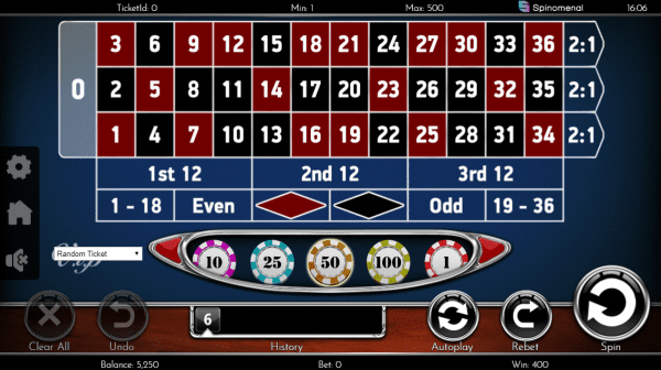Spinomenal casinos offer 2 roulette variants