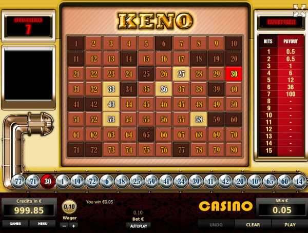 Tom Horn Casinos are home to great Keno games