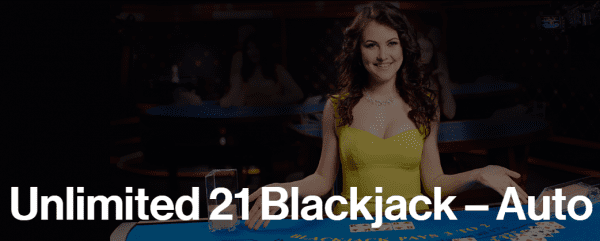Ezugi casinos are home to Unlimited 21 Blackjack