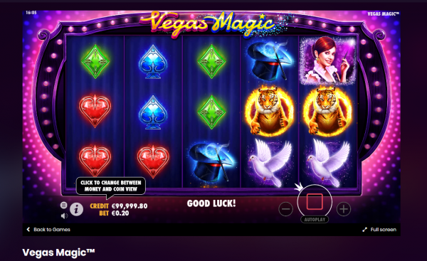 Vegas Magic slot is developed by Pragmatic Play