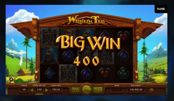 Play Wilhelm Tell slot at our Yggdrasil Casinos