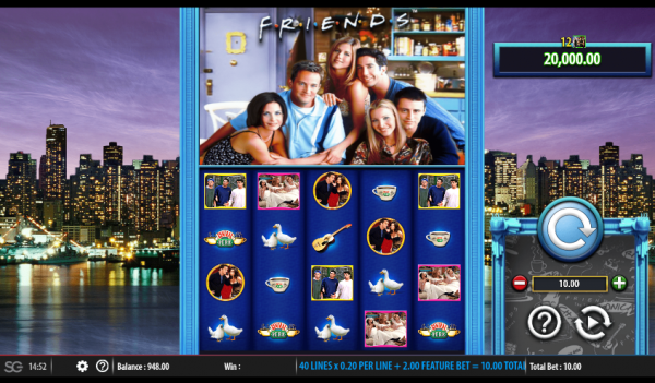 Barcrest casinos are home to Friends slot, developed in partnership with WMS