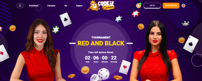 CookieCasino Hosts A Red And Black Live Dealer Game Race