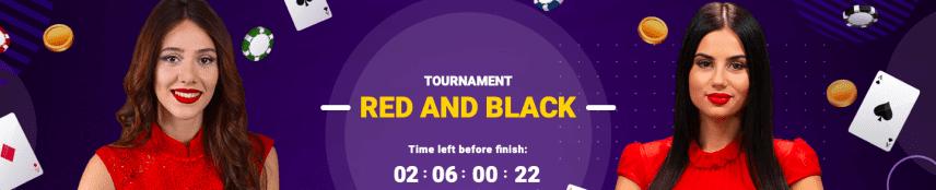 CookieCasino Tournament Red and Black