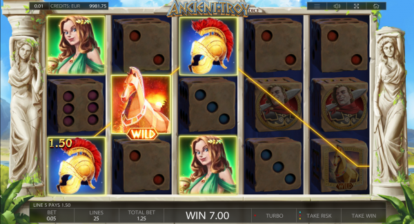 Endorphina Casinos are home to the famous Ancient Troy Dice slot
