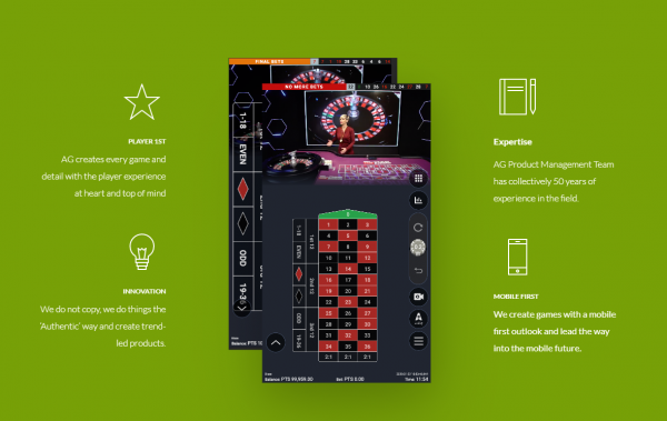 Authentic Gaming Live Casinos have a wide range of products