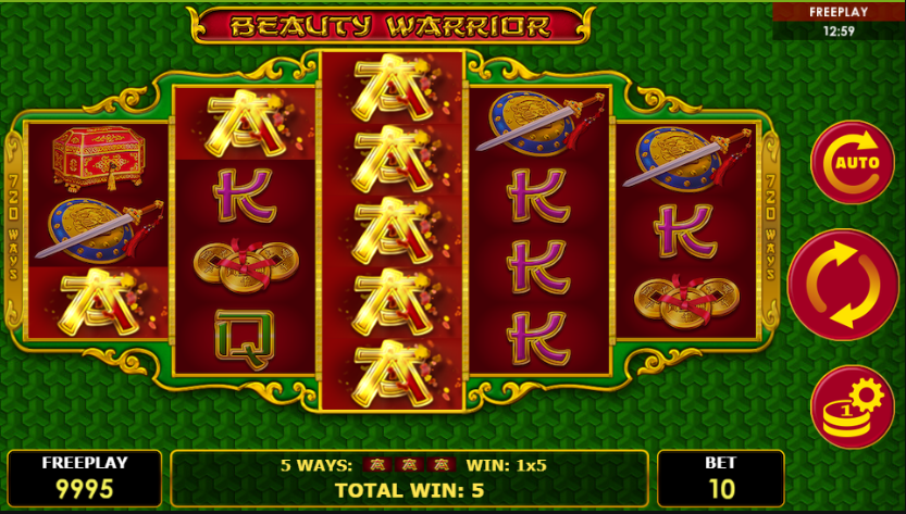 Amatic Casinos are home to the great Beauty Warrior slot