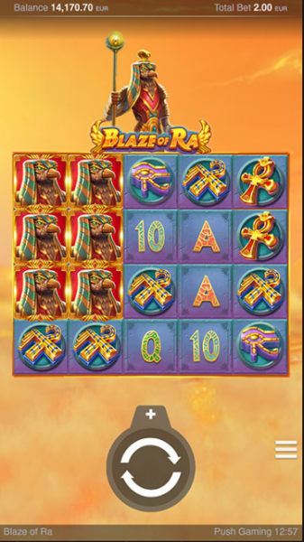 PushGaming proudly presents the Blaze of Ra slot