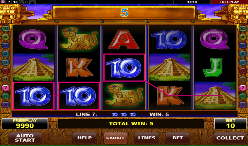 Enjoy the Book of Aztec jackpot by Amatic