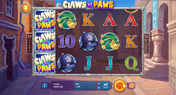 Claws Vs Paws slot is a must-try in any Playson Casino