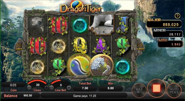 Dragon Tiger slot can be played at any SA Gaming casino