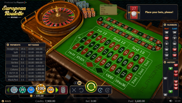 The European Roulette is the centerpiece at any Playson casino