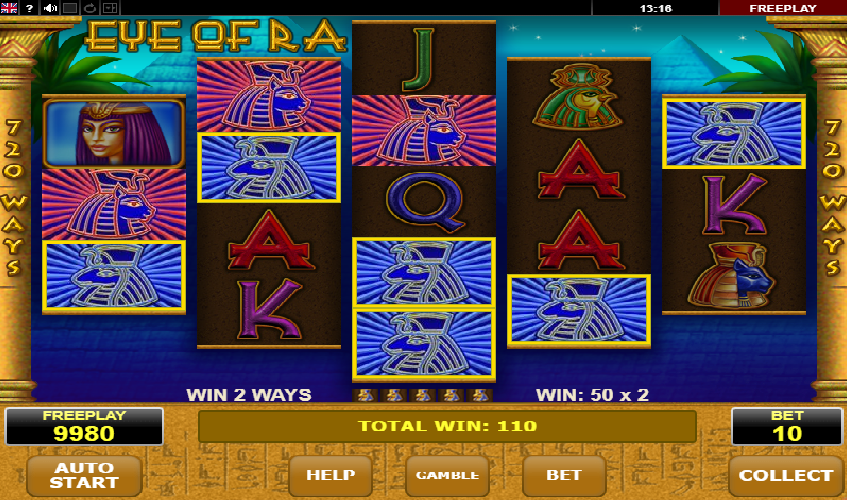 Eye of Ra is a jackpot developed by Amatic