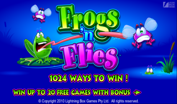 Try Frogs N Flies at any LightningBox casinos