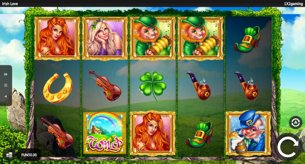 Irish Love Slot can be played at every 1x2Gaming Casino