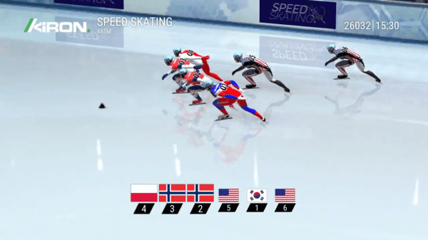 Kiron brings you a beautiful Speed Skating game - place your bets!