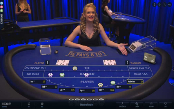Baccarat fans can play the live version of their favorite Lucky Streak game