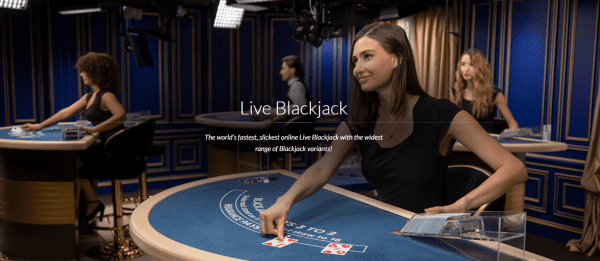 Evolution Gaming is the most popular live software provider and it proudly features its Live Blackjack suite!