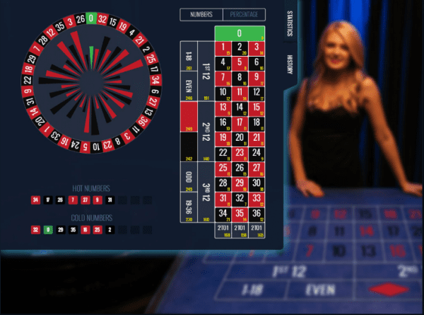 Lucky Streak has created a beautiful live roulette table