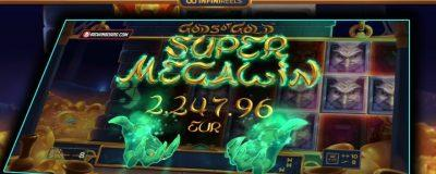 Gods of Gold Slot Super Mega Win