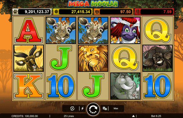 Mega Moolah progressive jackpot by Microgaming needs no further introduction