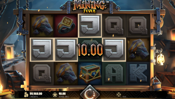 An example of an outstanding slot - Mining Fever - produced by Rabcat in collaboration with Microgaming