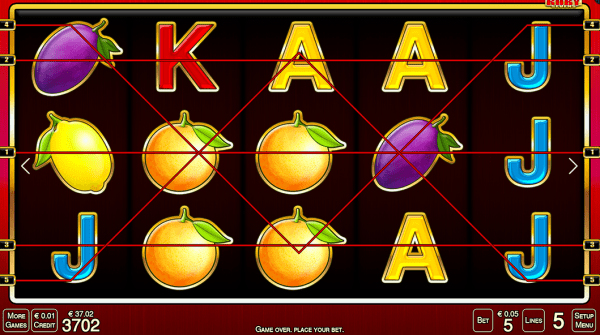 Ruby Sevens slot can be played in any Merkurslots casinos