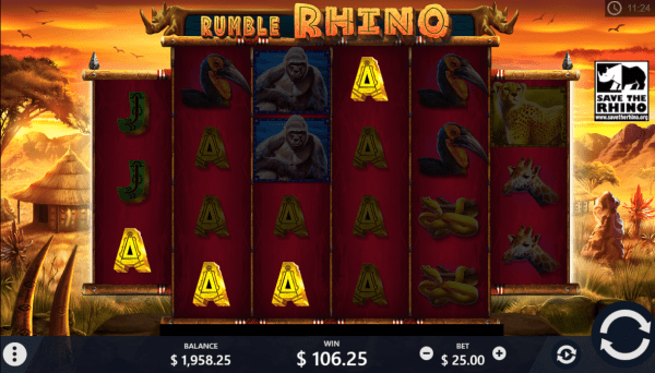 Rumble Rhinos is a must-play at every PariPlay casino