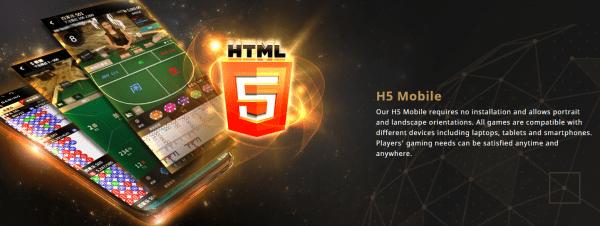All SA Gaming games are fully HTML5 optimized