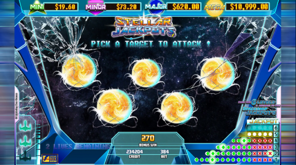 The Lion will bring you amazing jackpots in Lightningbox game called Stellar Jackpots with Silver Lion!