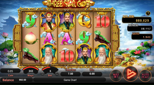 Three Star God is a beautifully designed game by SA Gaming