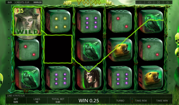 Voodoo Dice slot is developed by Endorphina