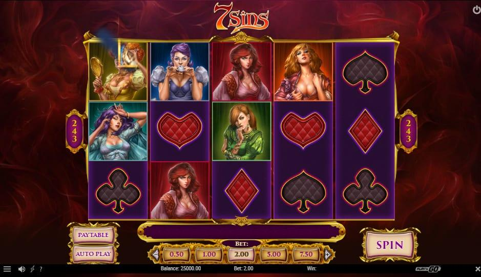 7 Sins Slot RTP: This slot game has an estimated RTP rate of 96.28% and lets you bet between $0.1 and $100.