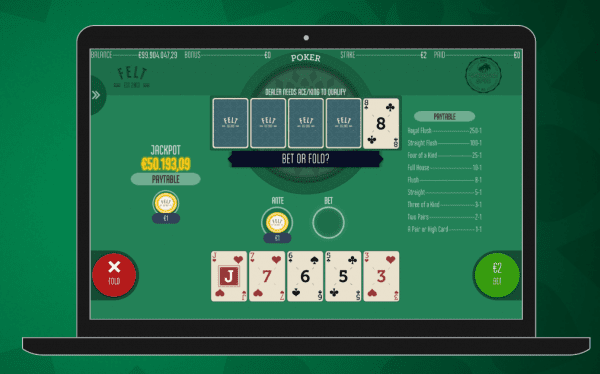 FeltGaming casinos are home to the amazing Caribbean Stud Poker